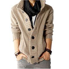Herren Hoher Kragen Strickjacke Pulli Kapuzenjacke Cardigan Peacoat(46,Khaki) Fashion Season http://www.amazon.de/dp/B00OOM6NPQ/ref=cm_sw_r_pi_dp_77Dzub1DN1XKE