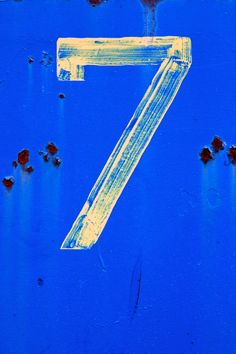 Number Seven by Jannis Werner. Number 7, Lucky Number, Numbers Station, Seven Logo, Discord Game, I Am Blue, 7 Seven, Lucky 7, Typography Art