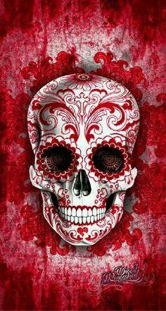 Red Sugar Skull