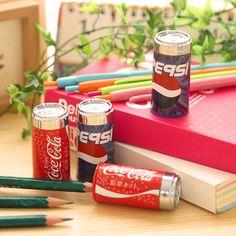 1 개/갑 콜라 연필 깎이 고정 사무실 학교 용품