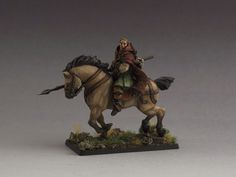 Squire on horseback, from GameZone Miniatures.