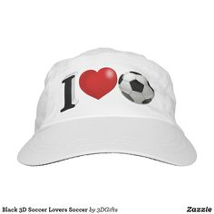 Black 3D Soccer Lovers Soccer Hat Sports Gifts, Christmas Card Holders, Keep It Cleaner, Baseball Hats, Soccer, Lovers, Black, Baseball Caps, Football