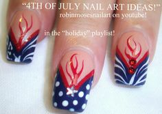 nails | Easy 4th of July NAIL ART ideas!