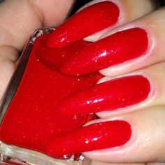 Red Devil  scream queens collection by ShleeePolish on Etsy Long Red Nails, Red Jelly, Scream Queens, Devil, Polish, Bottle, Collection, Etsy, Vitreous Enamel