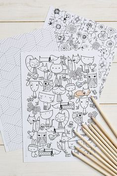 Mollie Makes Colouring | Free coloring sheets