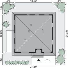 DOM.PL™ - Projekt domu Dom przy Słonecznej 2 CE - DOM EB2-49 - gotowy koszt budowy House Plans, How To Plan, Mirror, Furniture, Home Decor, Decoration Home, Room Decor, Mirrors, Home Furnishings