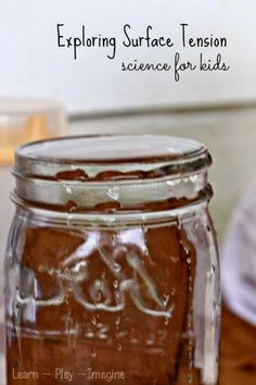 Exploring surface tension - simple water science for kids