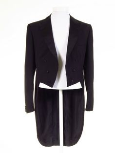 Black evening tailcoat white tie 40L - Tweedmans Morning Suits, Dinner Suit, Formal Wear, Trousers, Blazer, Tie, Classic, How To Wear, Jackets