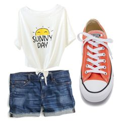 """""""Here Comes Summer"""" by reamichellebosma ❤ liked on Polyvore featuring J.Crew and Converse"""