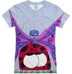 The Evolved Friendship by #OneArtsyMomma - Women's T-Shirts #ladybug #butterfly