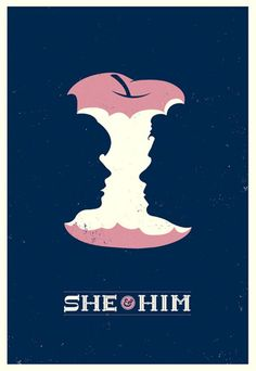 Classic example of figure/ground for the She & Him poster.