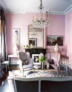 pink living room!