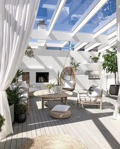 Picking the Perfect Outdoor Patio Decoration – Outdoor Patio Decor Backyard Beach, Backyard Patio Designs, Deck Patio, Rooftop Patio, Inspire Me Home Decor, Gazebos, Outdoor Rooms, Outdoor Decor, Outdoor Retreat