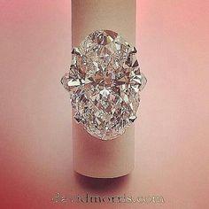 A swoontastic 25.22ct D~IF Type IIa oval #diamond ringby @davidmorrisjeweller