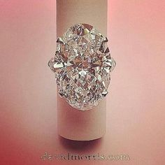 A swoontastic 25.22ct D~IF Type IIa oval #diamond ring by @davidmorrisjeweller