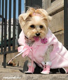 Pink fur Glam coat