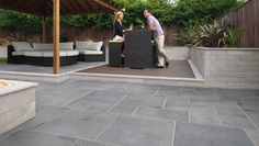 Buy Fairstone Slate Casarta Garden Paving Slabs from Turnbull, a stylish oversized garden slate paving available in 2 colours. Free UK delivery on 4 packs or