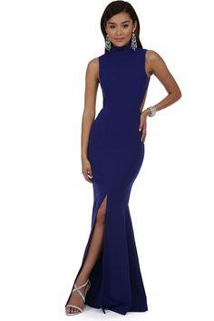Edith Blue Mermaid Gown | WindsorCloud