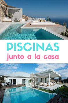 Piscinas junto a la casa. Inspiración para piscinas. #piscinas #albercas #setiloydeco #diseñodepiscinas #piscinasmodernas Ideas De Piscina, Construction, Crochet, Outdoor Decor, House, Home Decor, World, Pool Designs, Modern Pools