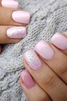 30 Newest Short Nails Art Designs To Try In 2020 nails glitternail gelnail nailideas beauty summernail winternail nailart acrylicnail 811562795337152344 Cute Acrylic Nails, Gel Nail Art, Fun Nails, Ongles Or Rose, Uñas Fashion, Womens Fashion, Nagellack Trends, Short Nails Art, Short Pink Nails