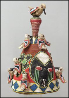 Yoruba Ade Oba (Adénlá) (King's Beaded Crown), Nigeria