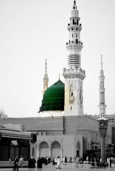 Prophet Mohammad Mosque (Al-Masjid al-Nabawi) Muslim Images, Islamic Images, Islamic Pictures, Islamic Art, Islamic Quotes, Islamic Messages, Masjid Haram, Al Masjid An Nabawi, Mecca Wallpaper