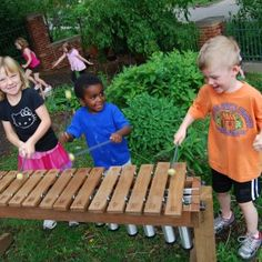 Xylophone for the natural playground