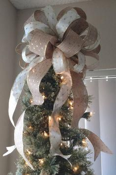Diy Christmas Tree Bow Topper Inspirational Silver And Gold Tree Topper Seasonal Plante Christmas Tree Topper Silver Christmas Tree Bows Christmas Tree Toppers