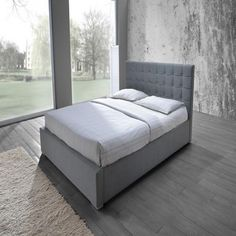 Lily Double Bed in Grey