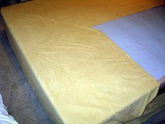 Bromeliad: How to make a no-sew bedskirt