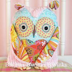 Owl Pillow friend stuffed owl pillow  Plush Owl Decor  by BWinks