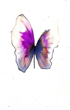 magenta grey and white gold butterfly original by AMOMA on Etsy