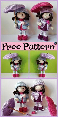 8 Cuest Crochet Doll Amigurumi Free Patterns #freecrochetpatterns #amigurumi #doll #toys Crochet Patron, Crochet Dolls Free Patterns, Knitting Patterns Free, Crochet Designs, Free Knitting, Doll Amigurumi Free Pattern, Amigurumi Doll, Cute Crochet, Crochet Crafts