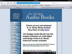 Jim Hodges Audio Books has the largest collection of unabridged recordings of the G.A. Henty historical novels available.