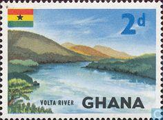 Postage Stamps - Ghana - Volta river.