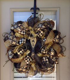 WHO DAT wreath by SouthernMamaWreaths on Etsy, $70.00 - Try as I might, I just cannot make anything as nice as this.