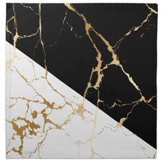 Shop Luxury Gold Marble Abstract Black & White Pattern Cloth Napkin created by PatternPapers. White Gold Room, White Nails With Gold, White And Gold Decor, Black And Gold Marble, White Gold Rings, Gold Nails, White And Gold Wallpaper, Gold Nike Wallpaper, Black And Gold Aesthetic