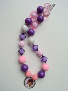 Doc McStuffins bottle cap necklace..chunky by GirlzNGlitter, $17.50