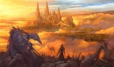 Artwork of castles, keeps, citadels and other fortified structures from the past, present, or future. Fantasy Artwork, Magic The Gathering, The Past, Mtg, World, Castles, Artist, Painting, Future
