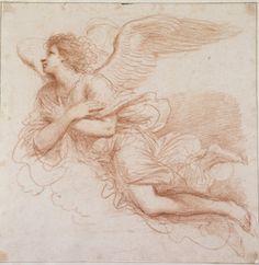 Giovanni Francesco Barbieri, called Guercino (1591 - 1666)    An Angel in flight, c.1648