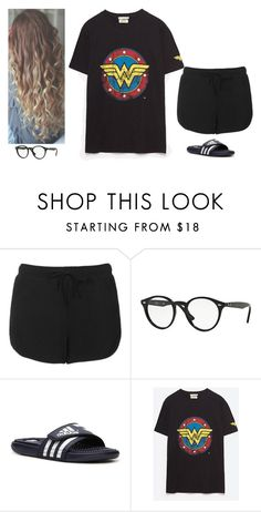 """Untitled #155"" by erin-bittencout on Polyvore featuring moda, Topshop, Ray-Ban e adidas"