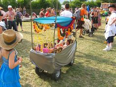 ideas of how to pimp the kids garden cart/trolley for festival
