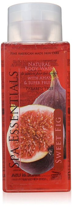 Spa Essentials Natural Body Wash with Aha's and Super Fruits, Sweet Fig, 13.52 Fluid Ounce >>> You can find out more details at the link of the image. (This is an Amazon Affiliate link)