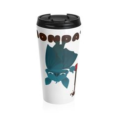Having a Bat Day - Stainless Steel Travel Mug Coffee Lover Gifts, Coffee Lovers, Mug Printing, Self Design, Stainless Steel Travel Mug, Everyday Objects, Heart Print, Make You Smile, Unique Gifts