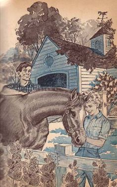 (3) Illustration by Paul Frame is from the 1965 Whitman Deluxe edition of Trixie Belden and the Secret of the Mansion