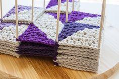 I love this idea!! Wooden crochet blocking station | www.1dogwoof.com