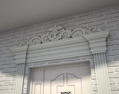 Of course its facade. The most popular option for decorating the facade is the use of facing brick. Wall Design, Facade Design, Decor Design, Masonry Wall, Brick Decor, House Cast, Brick, Classic House, Classic House Exterior