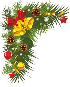 Pine and pine cones Christmas clip art large Merry Christmas, Christmas Clipart, Christmas Bells, Christmas Printables, Christmas And New Year, Christmas Time, Christmas Ornaments, Holiday, Christmas Boarders