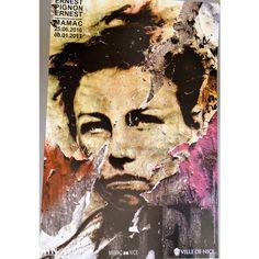 Original poster, Rebel teen, face, figure, committed French artist, Ernest Pignon-Ernest, Political, social struggle, resistant, ($93) found on Polyvore