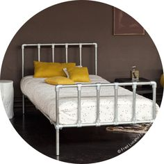 Bed Echafaudage Junior bed, Timeless and industrial inspiration Designed by SerendipityGalvanized steel frame